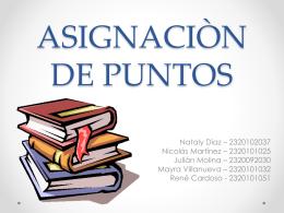 ASIGNACIÒN DE PUNTOS