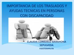 IMPORTANCIA DE LOS TRASLADOS Y AYUDAS TECNICAS EN