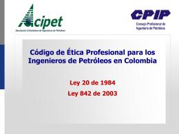 Presentación Código de Etica - Consejo Profesional de Ingeniería