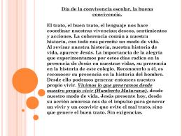 EL VALOR DE CONVIVENCIA DESDE MIRADA CRISTIANA