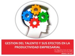 12. Gestión del Talento y sus Efectos en la Productividad Empresarial