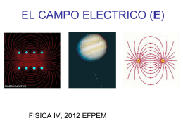 EL CAMPO ELECTRICO (E)