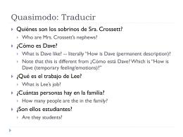 Quasimodo: Traducir