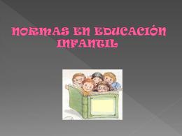 normas en educación infantil introducción - pixus