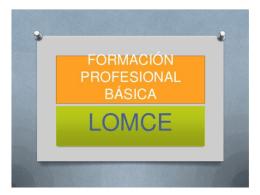 fórmación profesional básica. - Portal de Educación de la Junta de