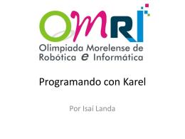 Programando con Karel