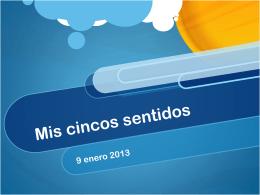 Mis cincos sentidos - Spanish Playground