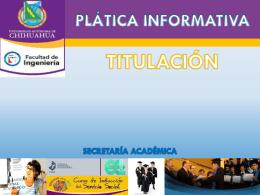 OPCIONES DE TITULACION - Facultad de Ingeniería