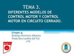 Tema 3. Diferentes modelos de control motor y control
