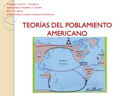 TEORÍAS DEL POBLEMIENTO AMERICANO