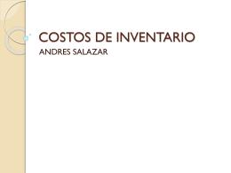COSTOS DE INVENTARIO - Colegio Gimnasio del Norte