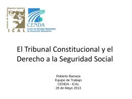 El Tribunal Constitucional y el Derecho a la Seguridad Social