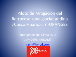 Piloto de Mitigación de Retroceso zona glaciar
