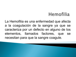 Hemofilia - DSpace at Universia