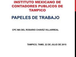Papeles de trabajo - Instituto Mexicano de Contadores Públicos de