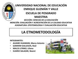 ETNOMETODOLOGIA GRUPO5 - Promoción 2013