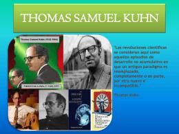 THOMAS SAMUEL KUHN 1.