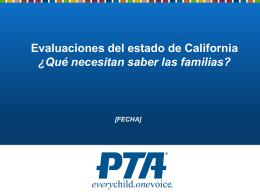 Evaluaciones del estado de California