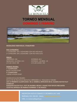 torneo mensual - La Monacilla Golf