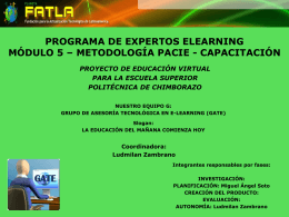 PROGRAMA DE EXPERTOS ELEARNING MÓDULO - fatla-grupo-g
