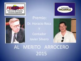 PREMIO Al mérito - Fundación Proarroz