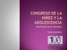 Congreso de la Niñez y la Adolescencia