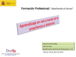 FORMACIÓN PROFESIONAL A DISTANCIA on line Y PRESENCIAL