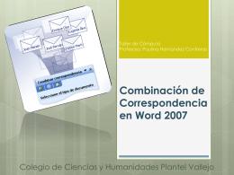 Combinación de Correspondencia en Word 2007