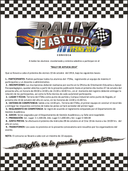 Convocatoria Rally de Astucia