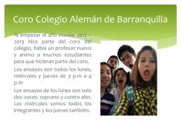 Coro Colegio Alemán de Barranquilla