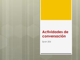 Actividades de conversación