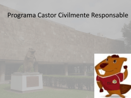 Castor Civilmente Responsable - Facultad de Ingeniería Civil