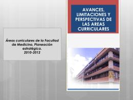 Áreas curriculares de la Facultad de Medicina