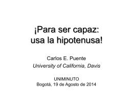 Transparencias - Carlos E. Puente