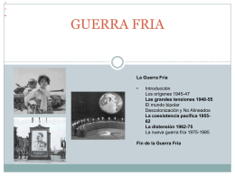 GUERRA FRIA - WordPress.com