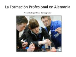 La formación profesional en Alemania - Sistema Dual
