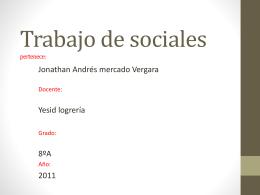 Trabajo de sociales pertenece: