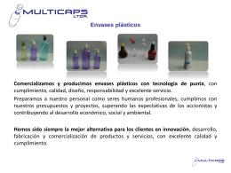 MULTICAPS LTDA. Envases plásticos