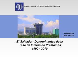 """Presentación """"Determinantes de la Tasa de Interés"""