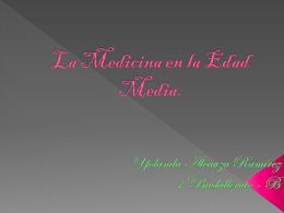 La Medicina en la Edad Media.