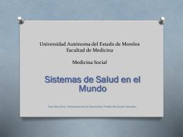 Sitemas de salud en el mundo y Medicina socializada