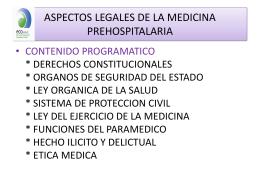 aspectos legales de la medicina prehospitalaria