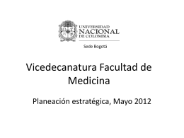 Vicedecanatura de investigación