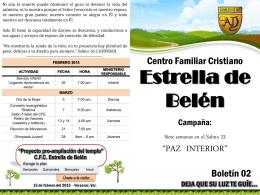 Paz interior boletin 2 - CFC Estrella de Belen