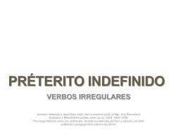 PRÉTERITO INDEFINIDO