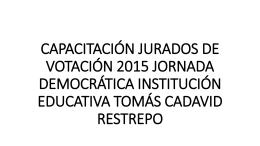 capacitación jurados de votación 2015 jornada democrática