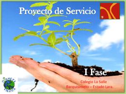 proyecto de servicio 1era fase