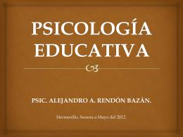 Psicología educativa: concepto y contenidos.