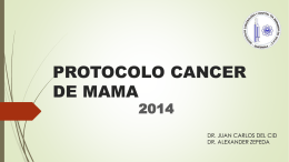 Protocolo Cancer de Mama 2014