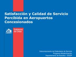 Satisfacción y Calidad de Servicio Percibida en Aeropuertos